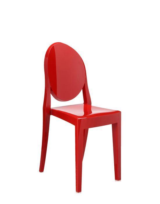 Kartell Victoria Ghost stoel-Rood