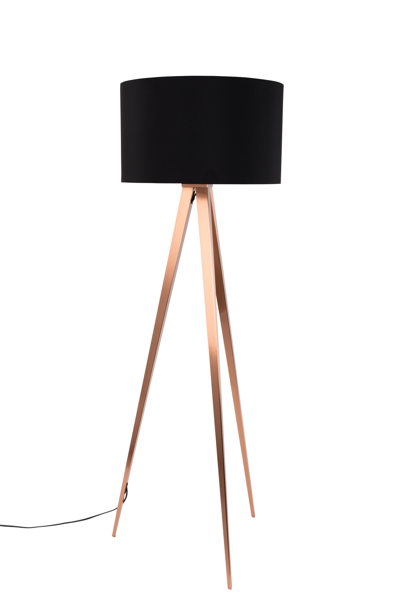 zuiver vloerlamp tripod h157 cm zwart grijze lampenkap aanbieding kopen. Black Bedroom Furniture Sets. Home Design Ideas