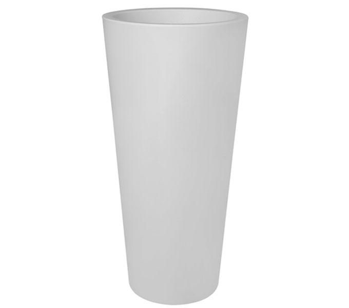 Elho Pure Straight Round high bloempot-Wit-∅ 50 cm