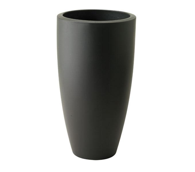 Elho Pure Soft Round high bloempot-antraciet-∅ 35 cm