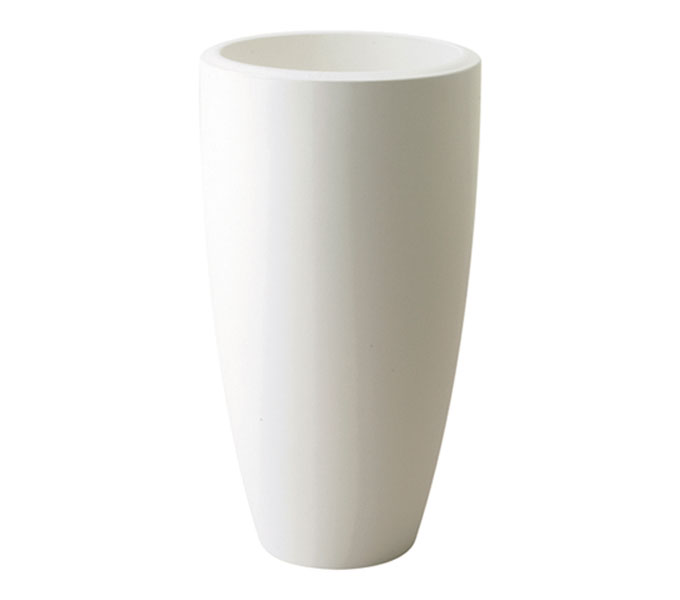 Elho Pure Soft Round high bloempot-Wit-∅ 35 cm