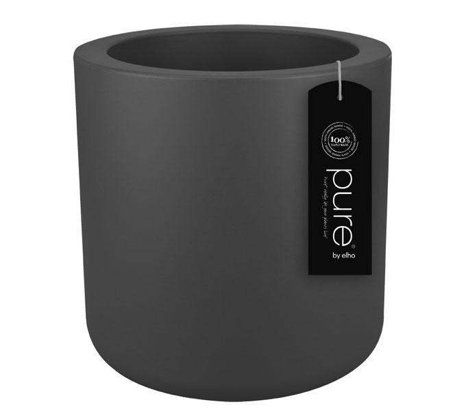 Elho Pure Cilinder bloempot-antraciet-∅ 40 cm
