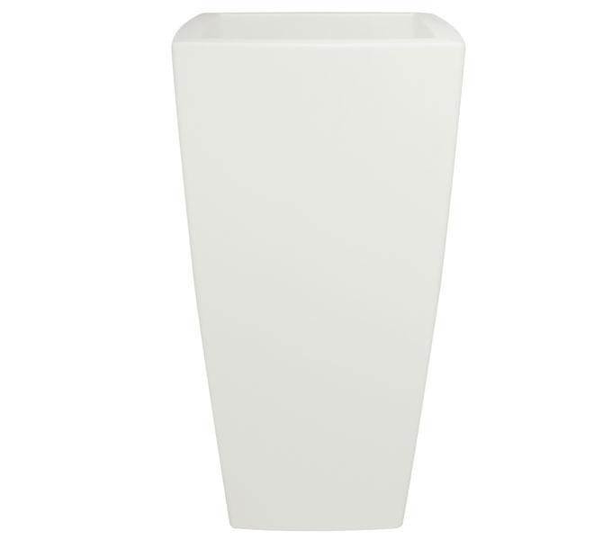 Elho Pure Soft Square high bloempot-Wit-∅ 30 cm