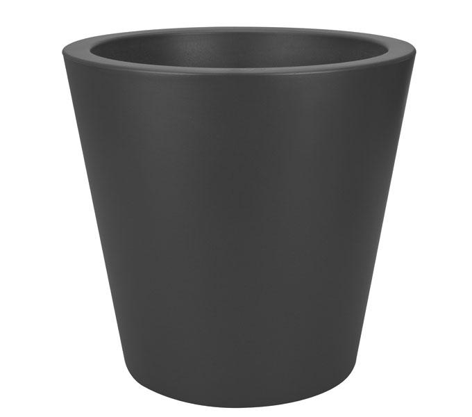 Elho Pure Straight Round bloempot-antraciet-∅ 50 cm