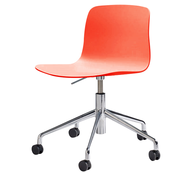 HAY About a Chair AAC50 gasveer bureaustoel-Coral rood