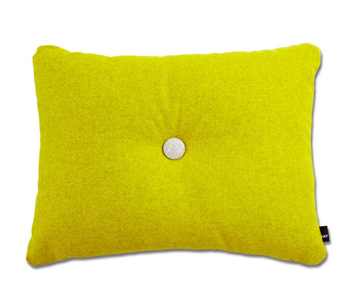 HAY Dot Cushion Divina Melange kussen-Geel