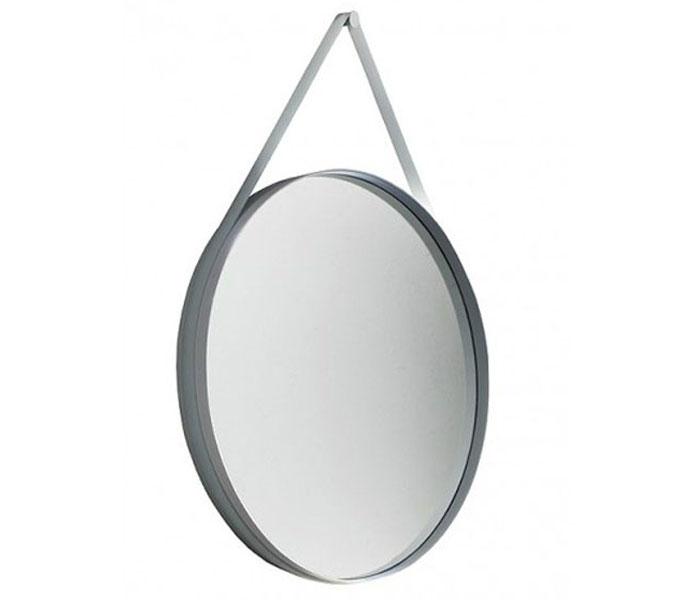 hay strap spiegel o 70 cm grijs hay aanbieding kopen. Black Bedroom Furniture Sets. Home Design Ideas