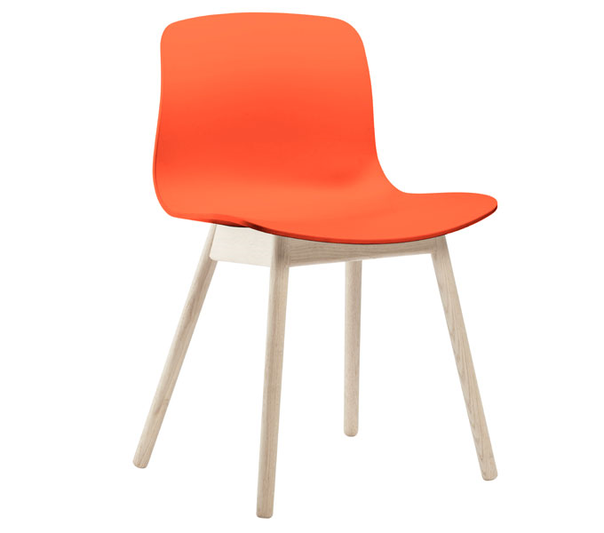 HAY About a Chair AAC12 stoel-Frame blank-Coral rood
