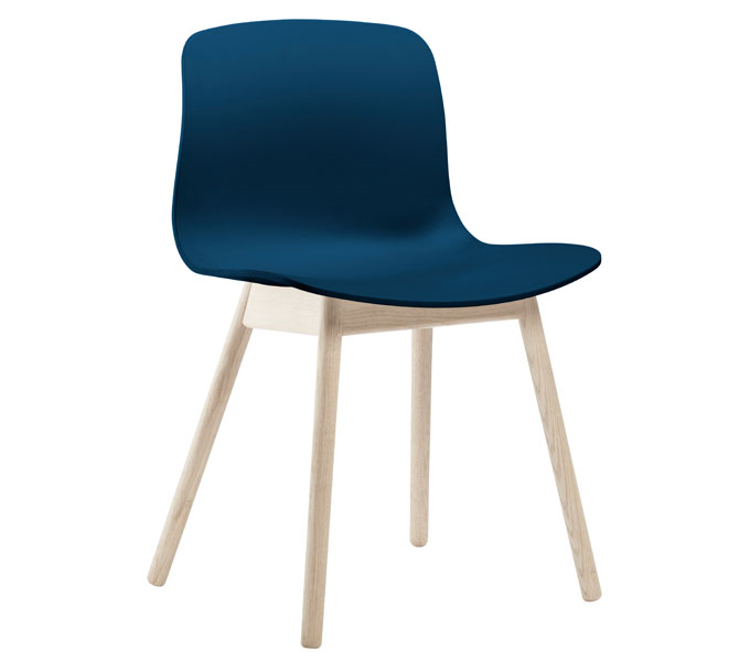 HAY About a Chair AAC12 stoel-Frame blank-Blauw