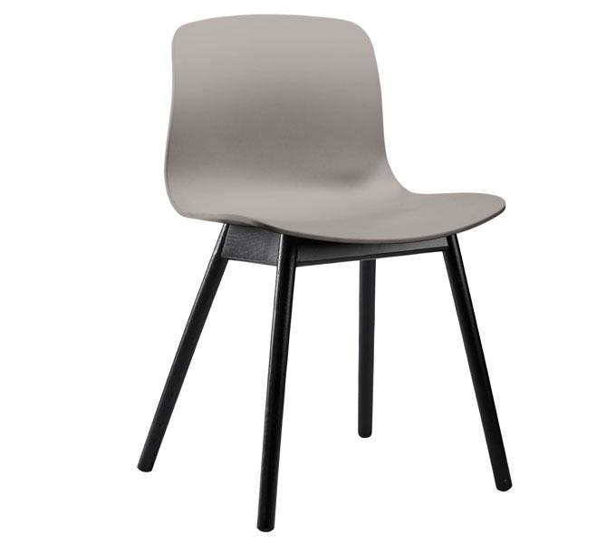 HAY About a Chair AAC12 stoel-Frame zwart-Grijs