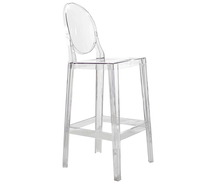 Kartell One more Please barkruk Transparant Zithoogte 65 cm