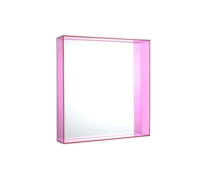 kartell only me spiegel fuchsia 50x50 cm. Black Bedroom Furniture Sets. Home Design Ideas