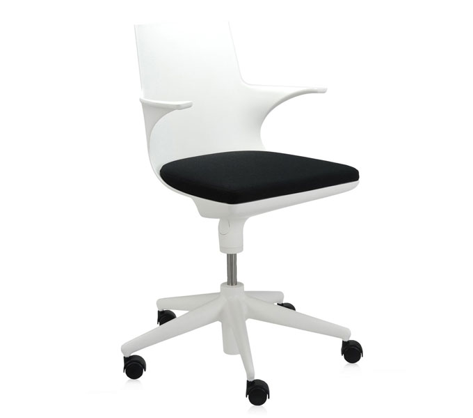 Kartell Spoon Chair bureaustoel-Wit