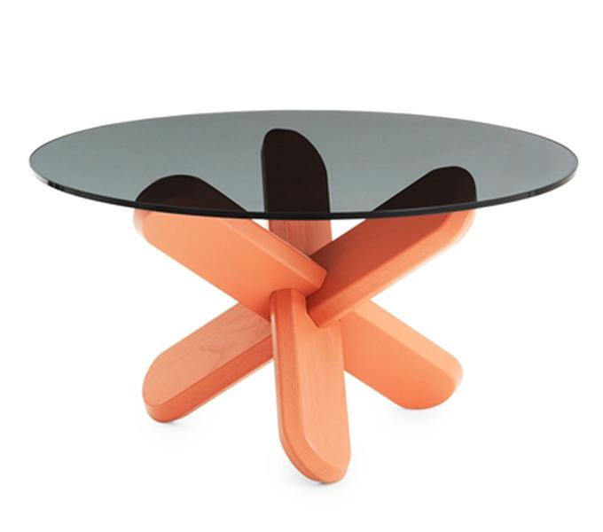 Normann Copenhagen Ding Table smoked tafel-Oranje