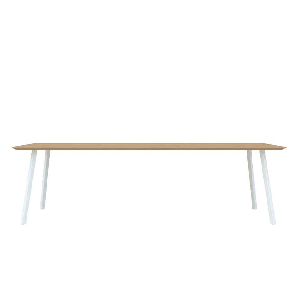 Studio HENK New Classic tafel wit frame 4 cm 280x90 cm Hardwax oil natural