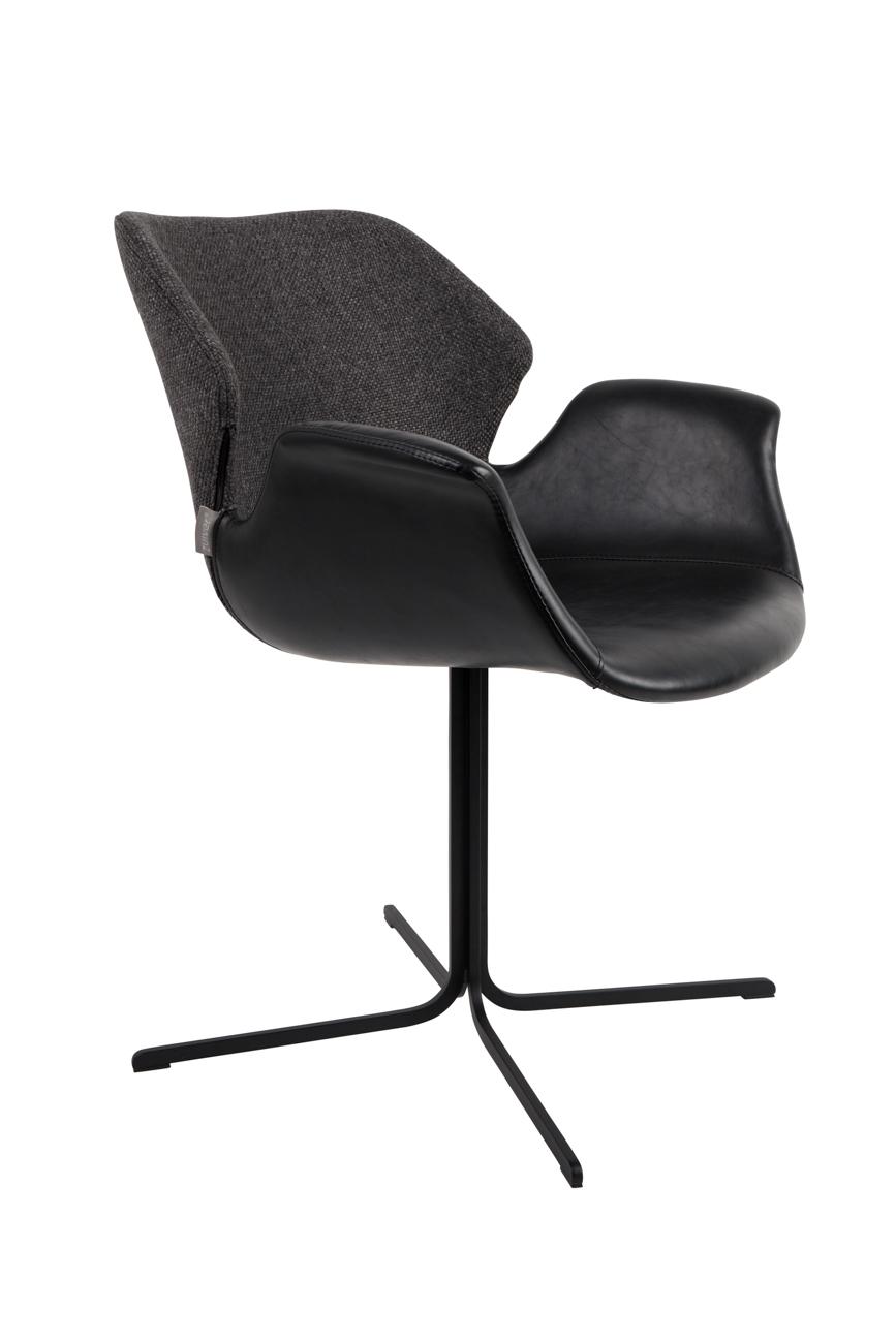 Zuiver Nikki stoel-Zwart-antraciet