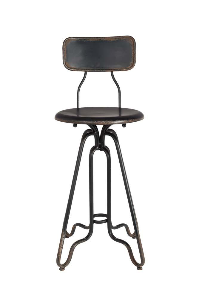 Dutchbone Ovid Counter stoel-Zwart