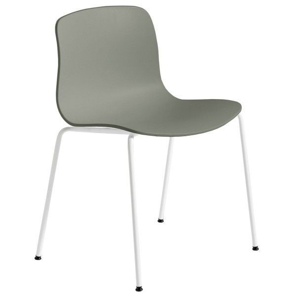 HAY About a Chair AAC16 wit onderstel stoel-Grijs-groen