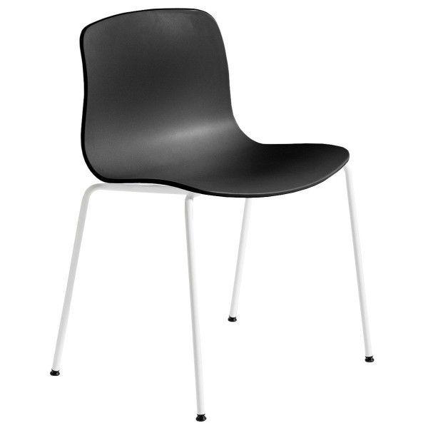 HAY About a Chair AAC16 wit onderstel stoel-Zwart