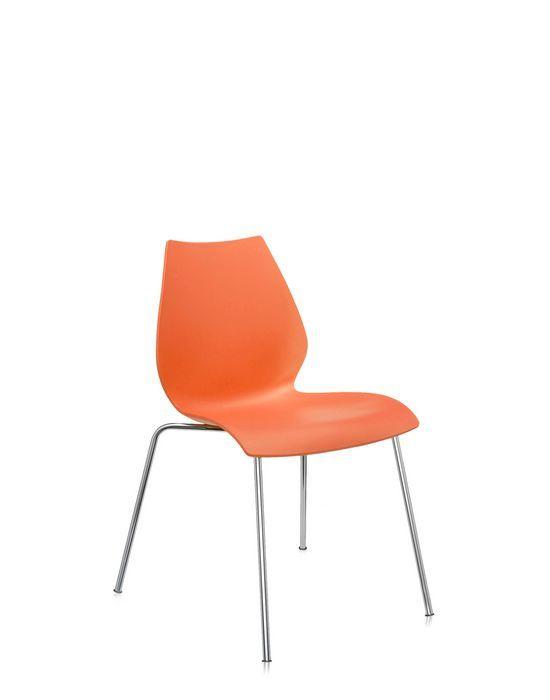 Kartell Maui stoel-Zonder armleuning-Oranje