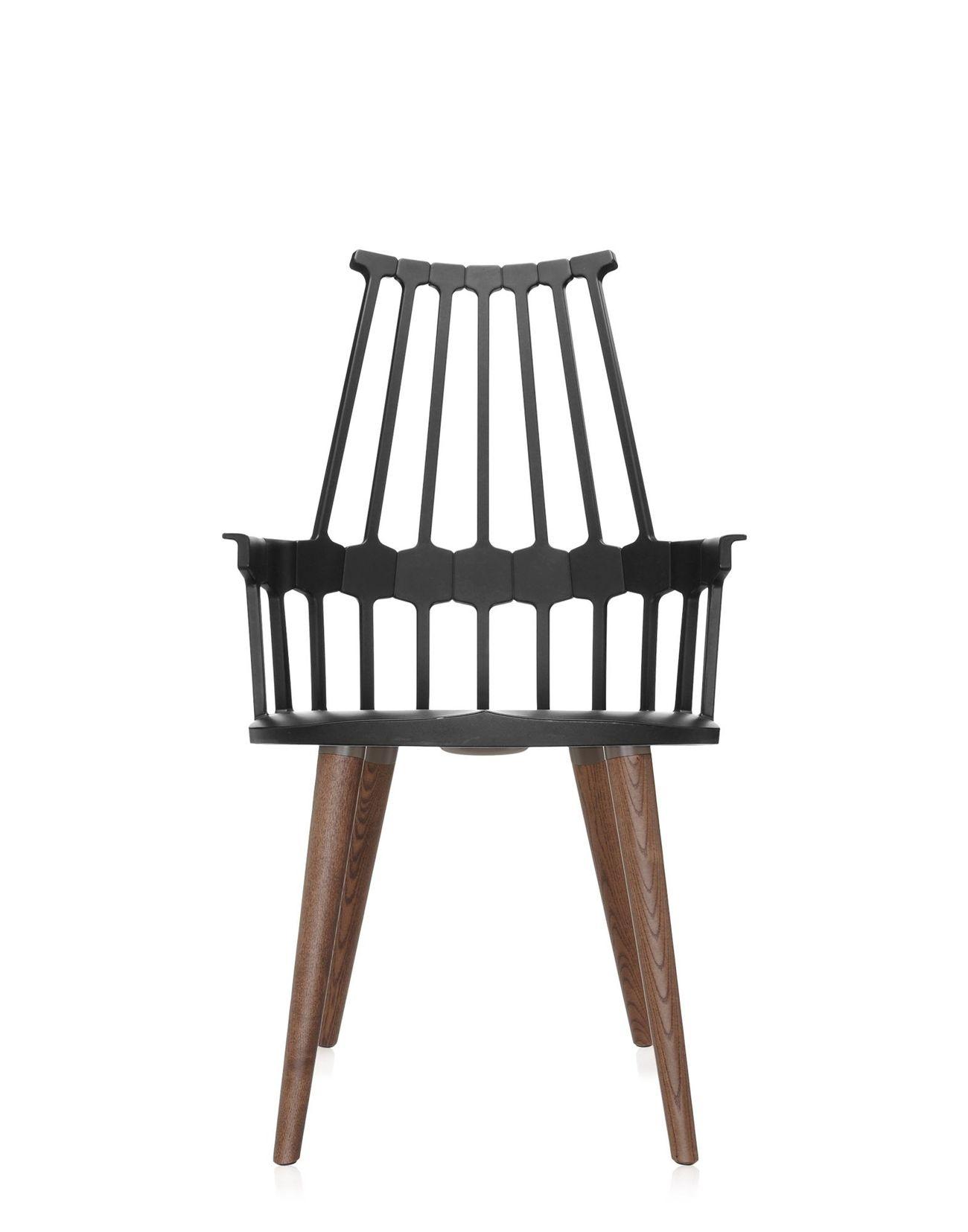 Kartell Comback poten stoel-Zwart
