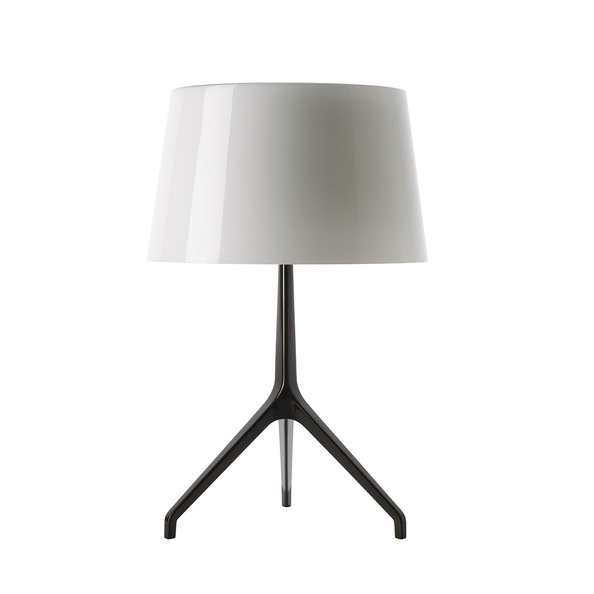 Foscarini Lumiere XXS tafelamp-Wit-Black chroom