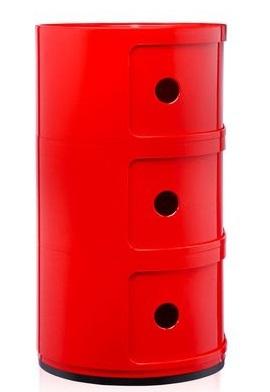 Kartell Componibili kastje -Rood-3 hoog