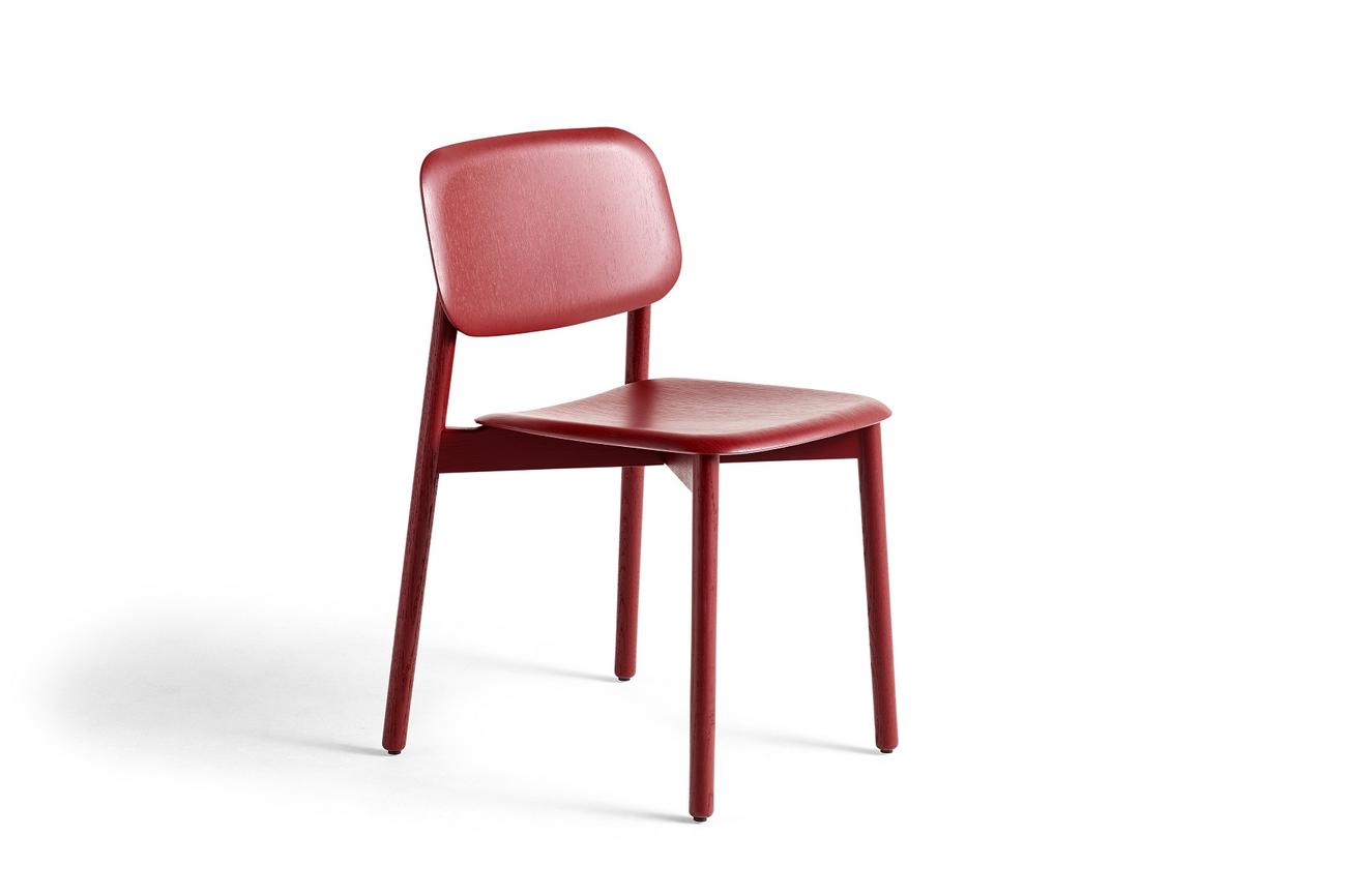 Hay Soft Edge Wood stoel Fall red