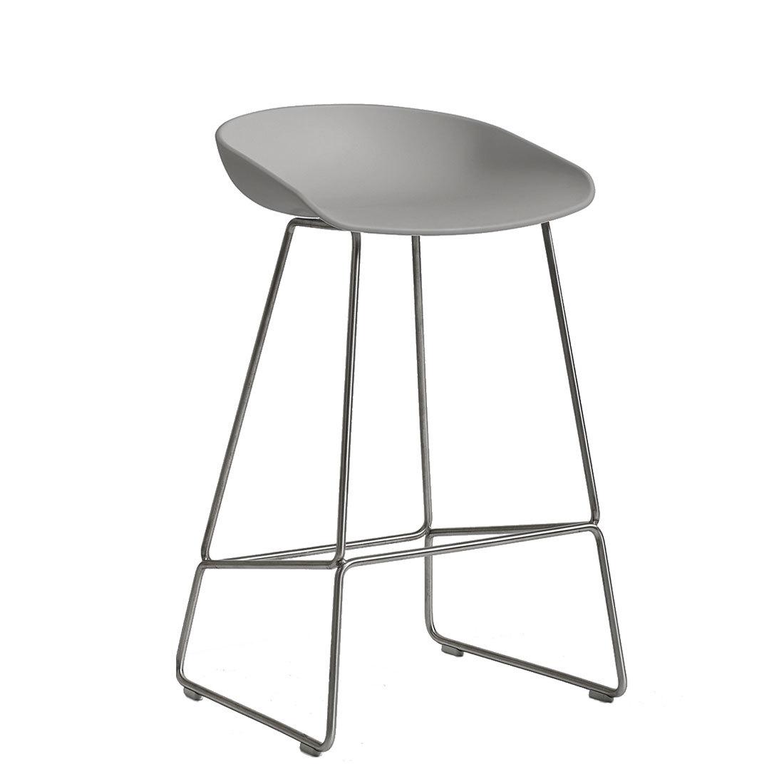 Hay about a stool aas38 barkruk rvs onderstel licht grijs for Hay barkruk
