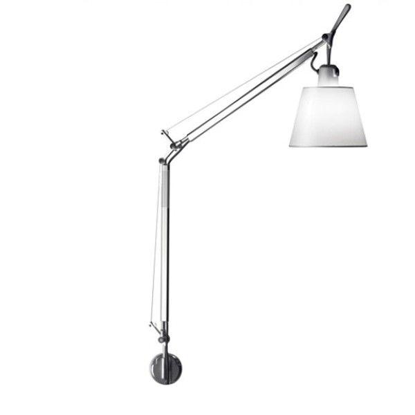 Artemide Tolomeo Basculante Parete wandlamp-Satijn grijs