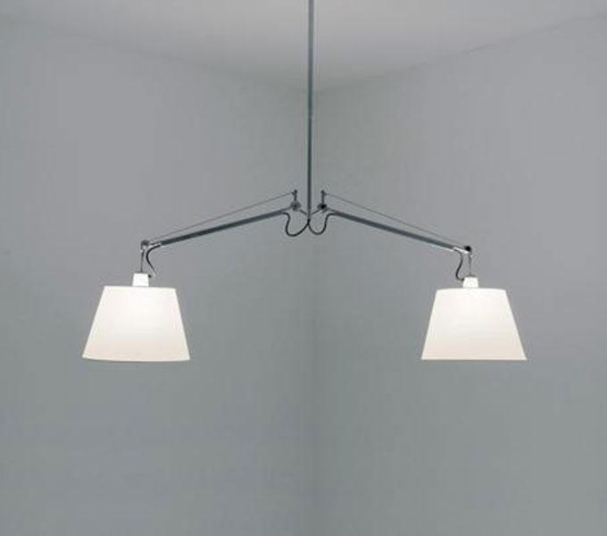Artemide Tolomeo Basculante hanglamp-Grijs-Kap � 24 cm