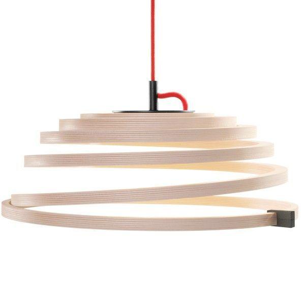 Secto Design Aspiro 8000 rood snoer hanglamp