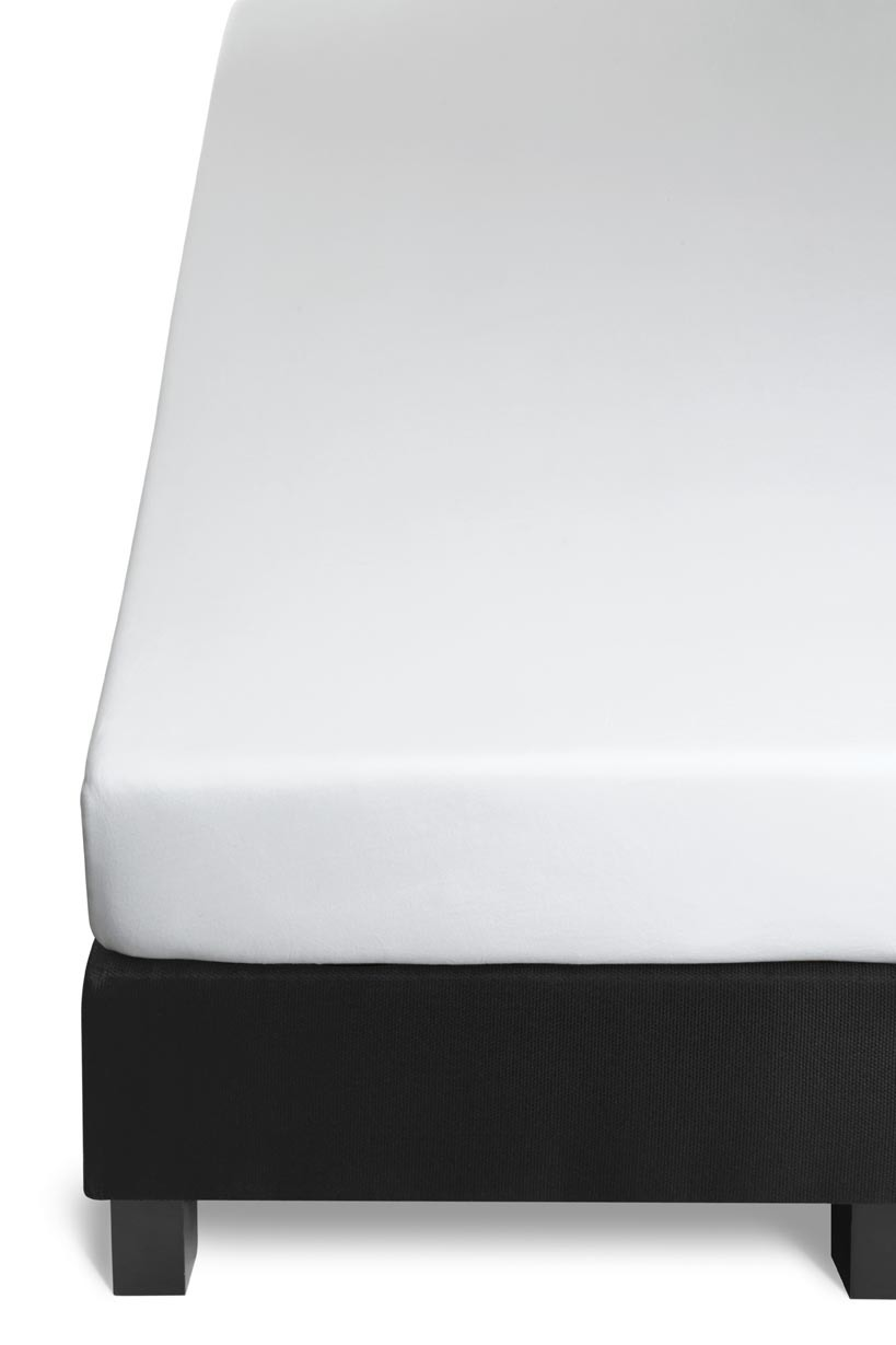 Auping Jersey hoeslaken-140x210 cm-Wit