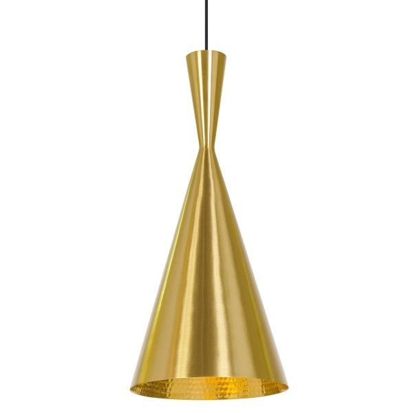 Tom Dixon Beat Light Tall hanglamp-Messing