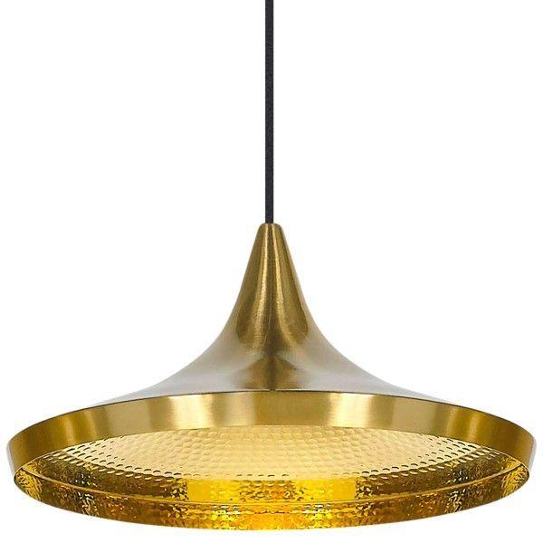 Tom Dixon Beat Light Wide hanglamp-Messing