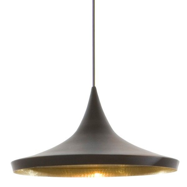 Tom Dixon Beat Light Wide hanglamp-Zwart