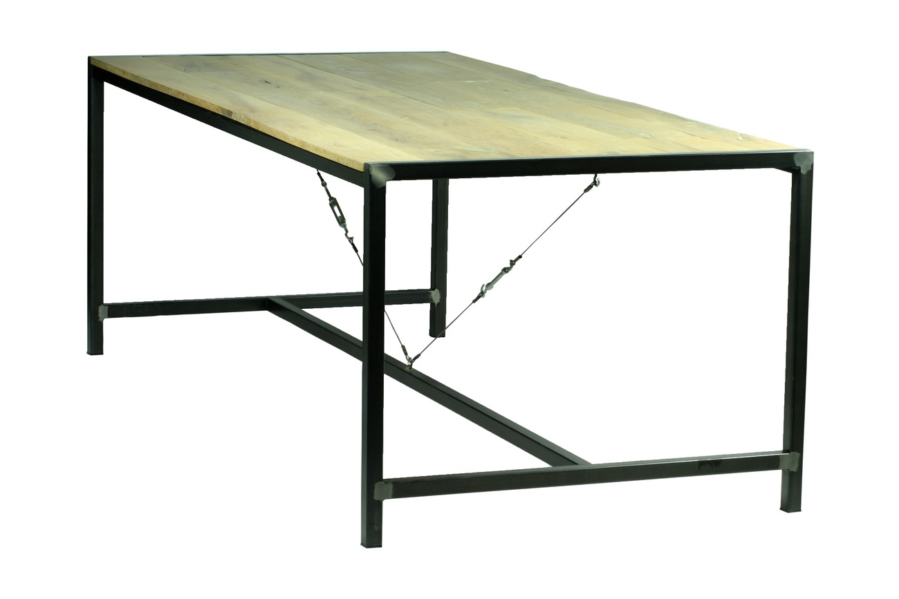 Spinder Design Blacksmith eettafel-220x100 cm