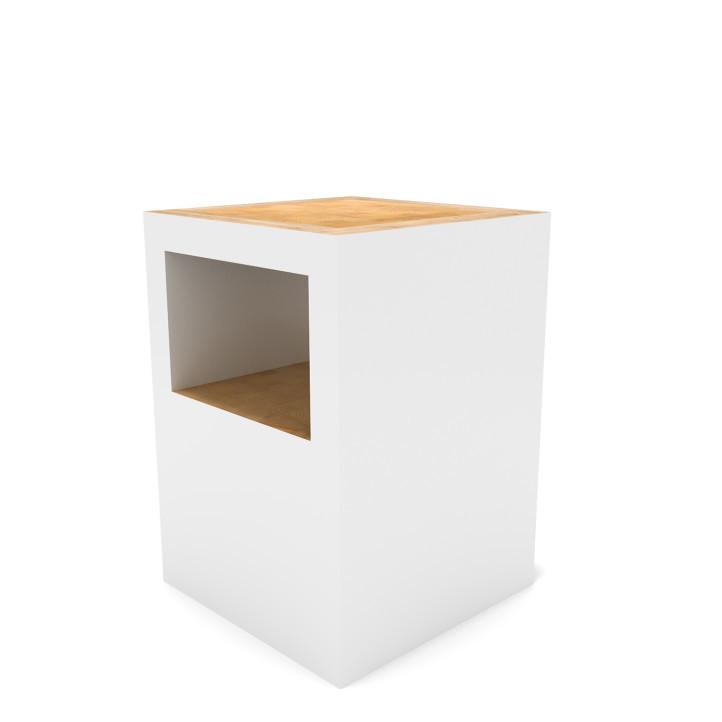 Universo Positivo Block Stool Open stoel-Wit