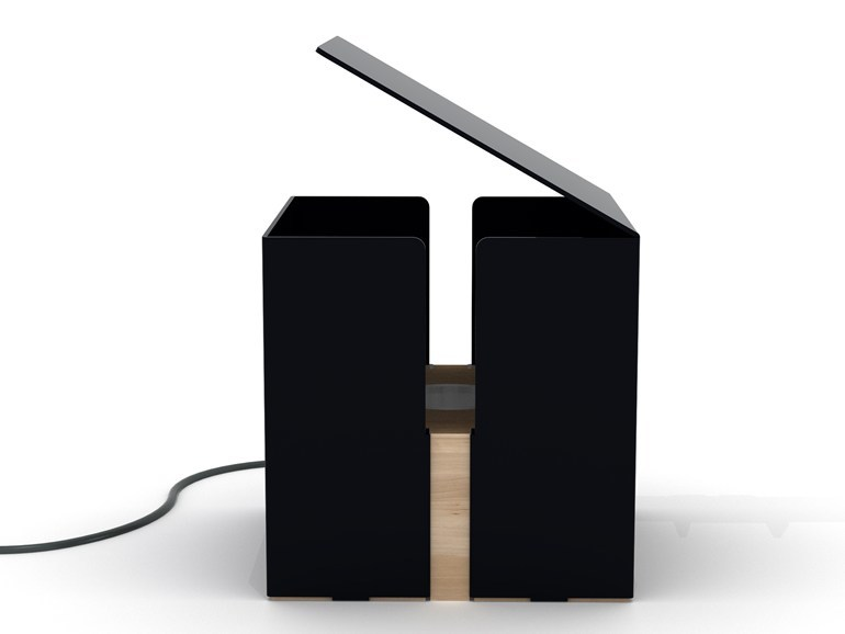 Ethnicraft Box lamp - tafellamp-Zwart