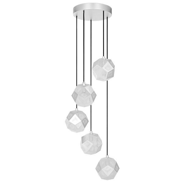 Tom Dixon Etch Mini Chandelier hanglamp-Zilver