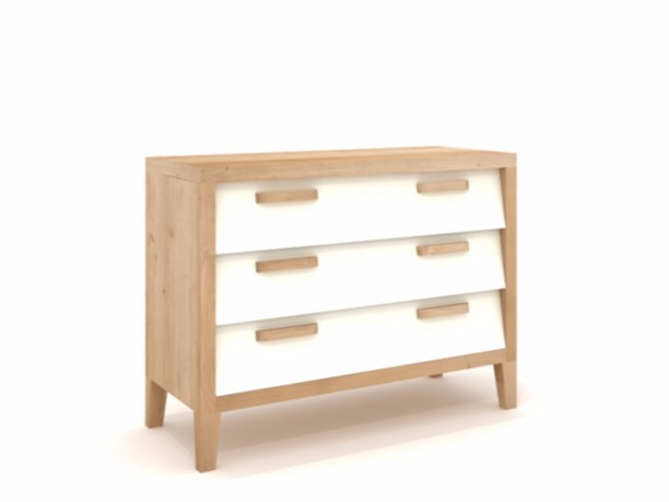 Ethnicraft Chest 60's Chest of Drawers Low kast-Cr�me