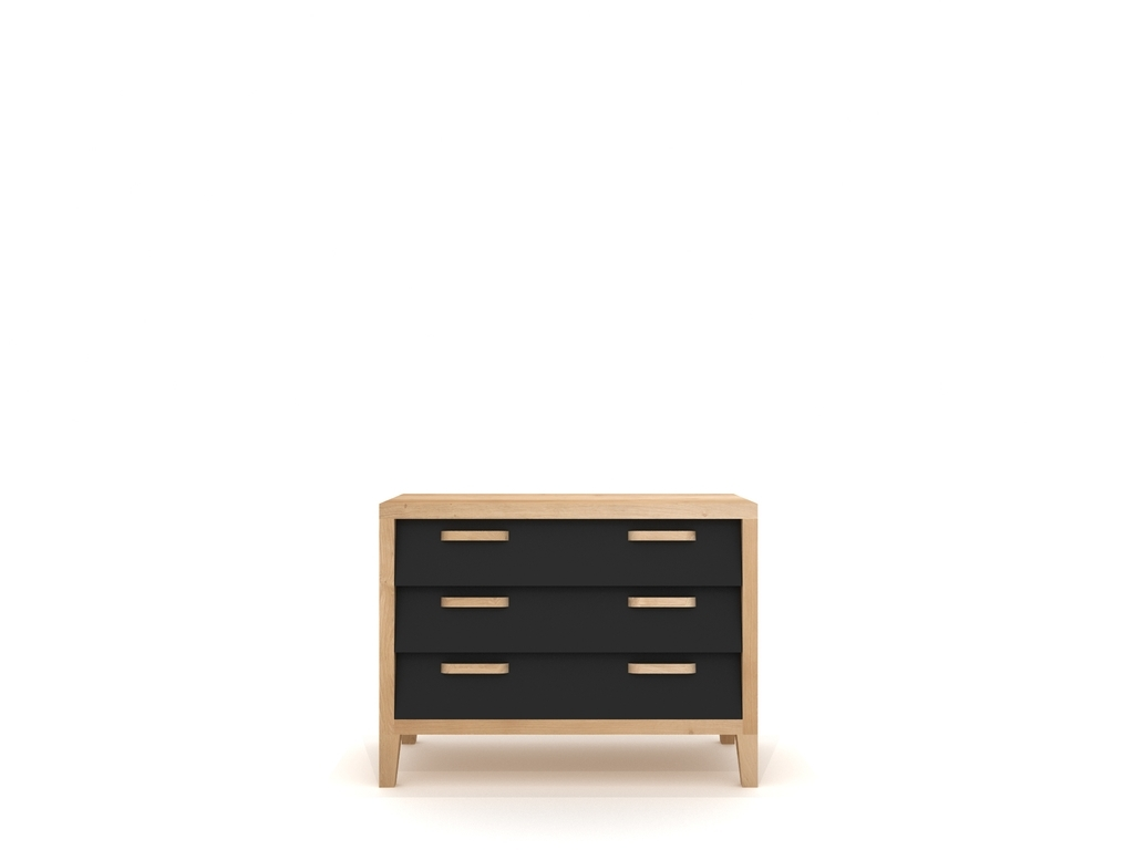 Ethnicraft Chest 60's Chest of Drawers Low kast-Zwart