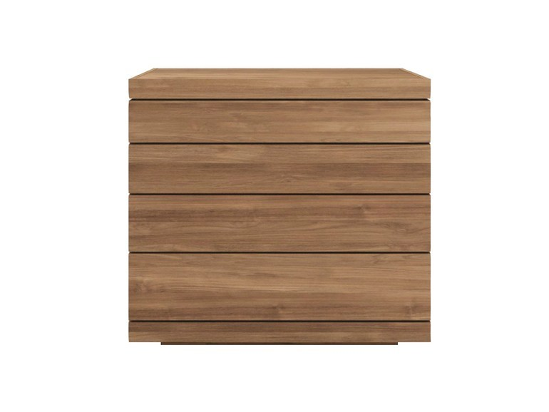 Ethnicraft Burger Chest Of Drawers teak kast-Laag