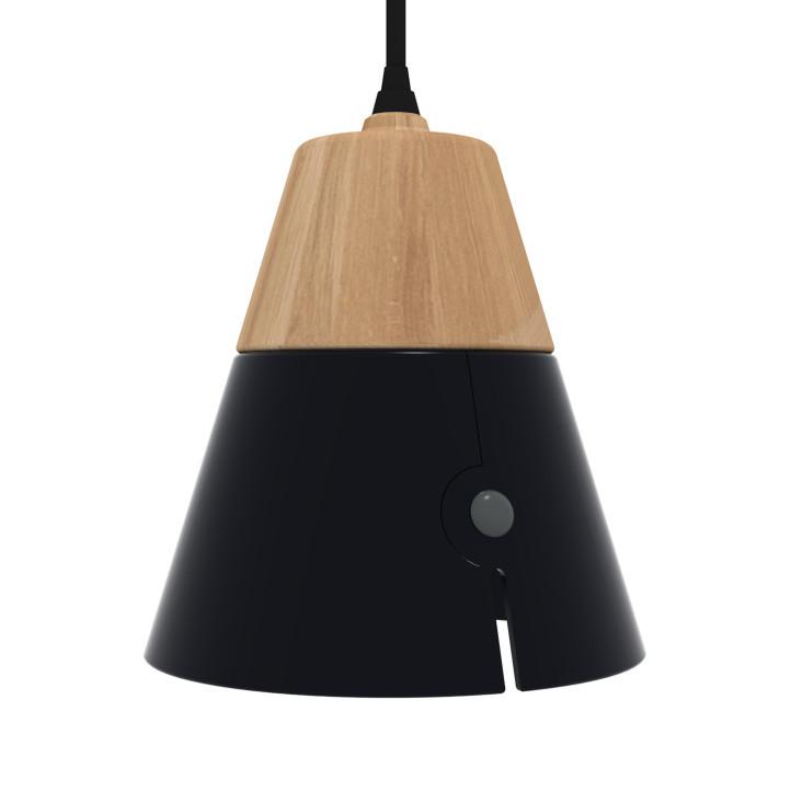Universo Positivo Cone Lamp Big - hanglamp-Zwart