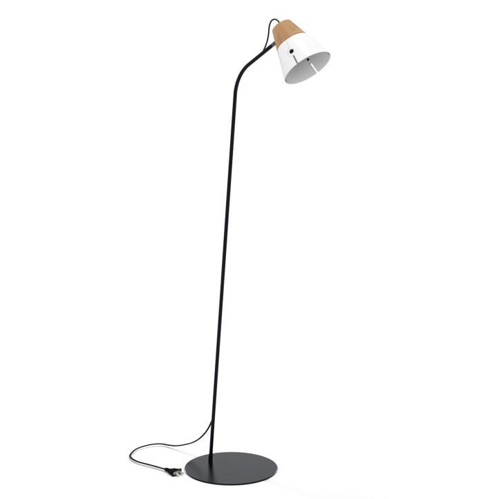 Ethnicraft Cone Lamp Floor - vloerlamp-Wit