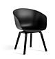 HAY AAC 42 low stoel-Black-Zwart water-based