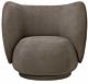 Ferm Living Rico fauteuil geborsteld-Bruin