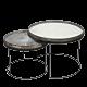 Ethnicraft Midnight Chevron 61 cm dienblad / tafel-Frame set laag