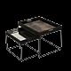 Ethnicraft Sand Wabi Sabi 46 cm dienblad / tafel-Frame set laag