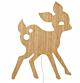 Ferm Living My Deer wandlamp-Geolied eiken
